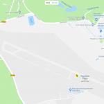 Карта расположения аэропорта в Карловых Варах