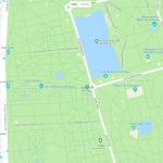 Карта расположения большого парка в Мадриде