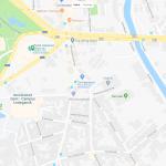 Карта расположения ботанического сада Гента