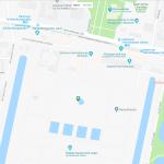 Карта расположения Королевских садов в Ганновере