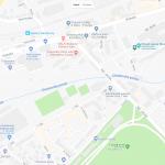 Карта расположения музея стекла Мозер