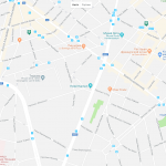 Карта расположения некоторых парков Брюсселя