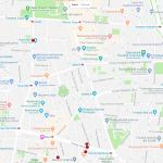 Карта расположения нескольких музеев Мадрида