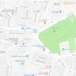 Карта расположения одного из парков Севильи