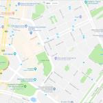 Карта расположения военного мемориала в Канберре