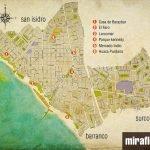 Карта туристического района Мирафлорес в Лиме