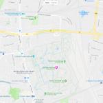 Карта с окрестностями Берлинского зоопарка