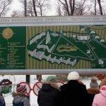 Карта-схема мемориального комплекса «Партизанская поляна»