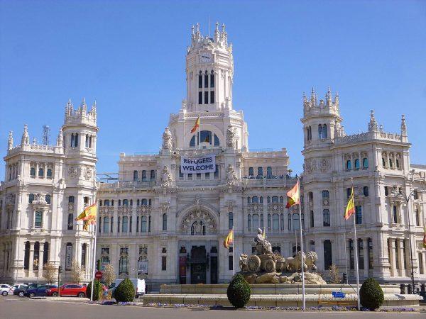 Дворец на площади Сибелес в Мадриде