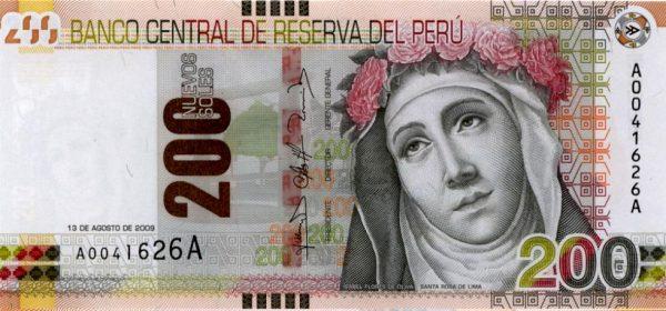 Банкнота перуанского нового соля