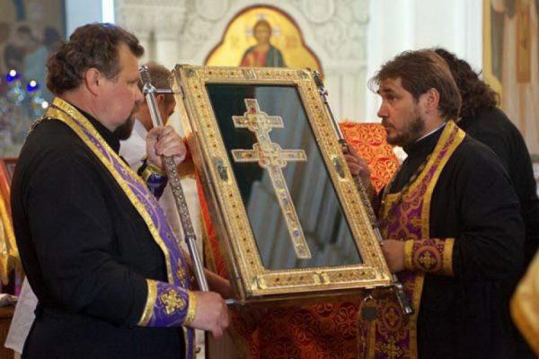 Воссозданный Крест Ефросинии Полоцкой