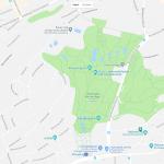 Один из парков Штутгарта на карте