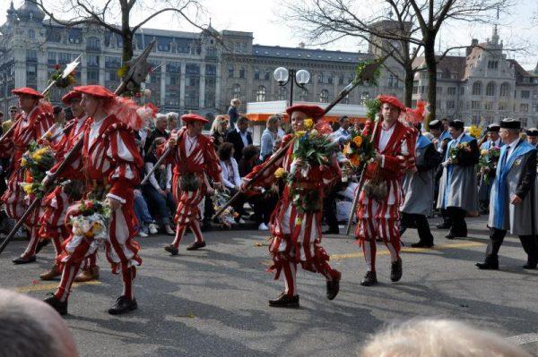 Парад гильдий в Цюрихе