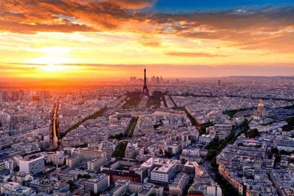 Вид на улицы Парижа