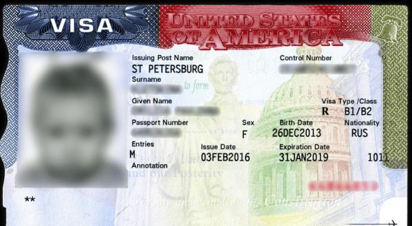 Детская виза в США