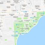 Расположение ботанического сада на карте