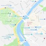 Расположение ботанического сада на карте Штутгарта