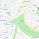 Расположение одного из парков Брюсселя