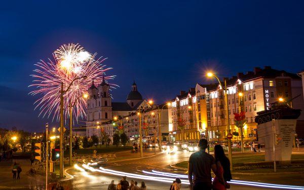Салют в Гродно на 9 мая