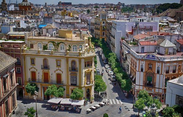 Вид на улицы Севильи