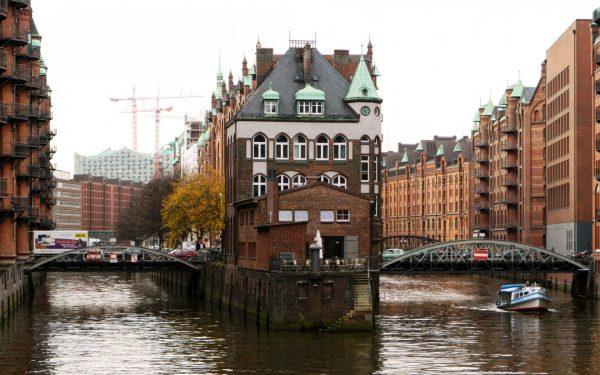 Складской город в Гамбурге