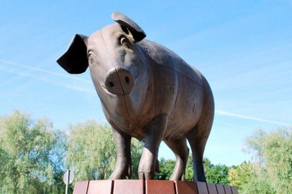 Скульптура «Бронзовая свинья» в Тарту