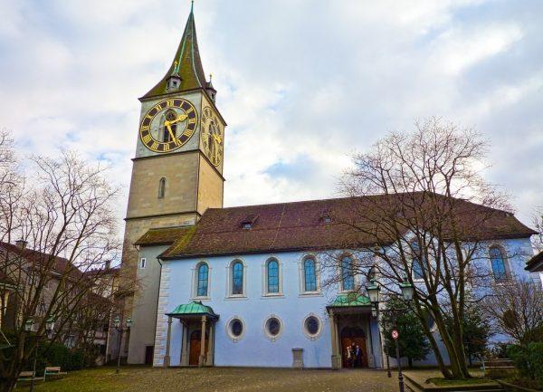 Собор Святого Петра в Цюрихе