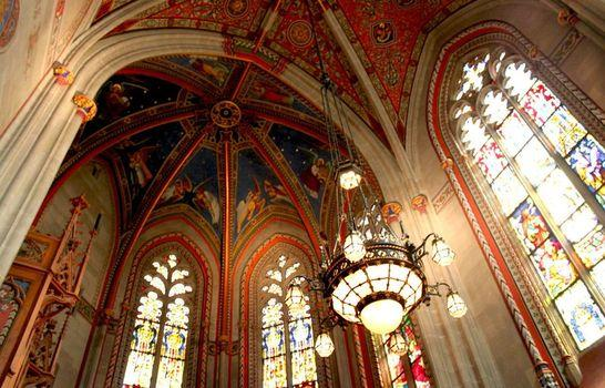 Собор Святого Петра в Цюрихе изнутри
