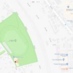 Стадион на карте Тарту