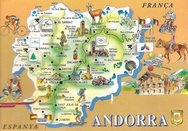 Туристическая карта Андорры