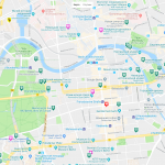 Туристическая карта центра Берлина