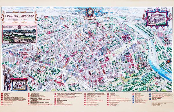 Туристическая карта Гродно