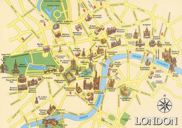 Туристическая карта Лондона