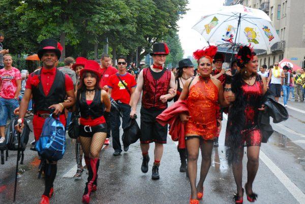 Уличный парад в Цюрихе