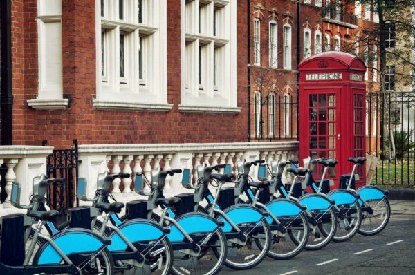 Велосипедная стоянка в Лондоне