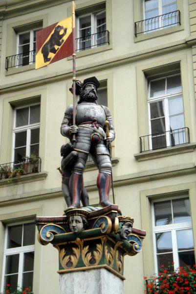 Фонтан Vennerbrunnen в Берне