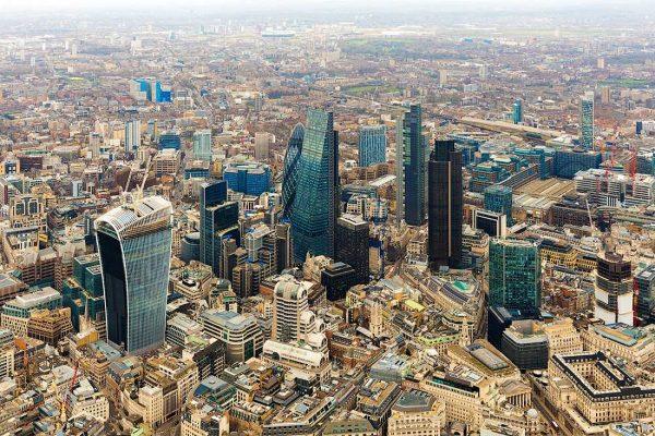 Вид на Сити с высоты