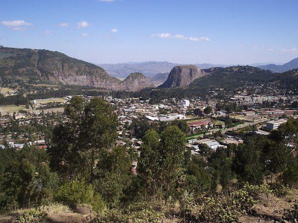 Вид на город Дэссе в Эфиопии