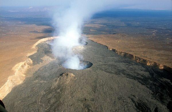 Вид на вулкан Эртале в Эфиопии