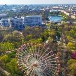 Вид сверху на парк Горького