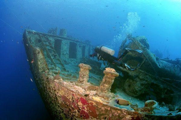 Затонувший корабль «Зенобия»
