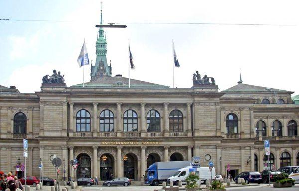 Здание фондовой биржи в Гамбурге