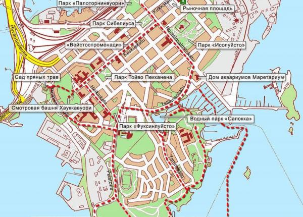 Туристическая карта Котки