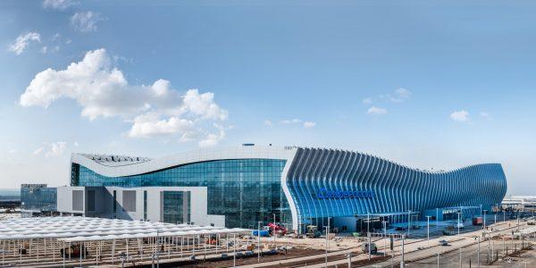Новый терминал аэропорта в Симферополе