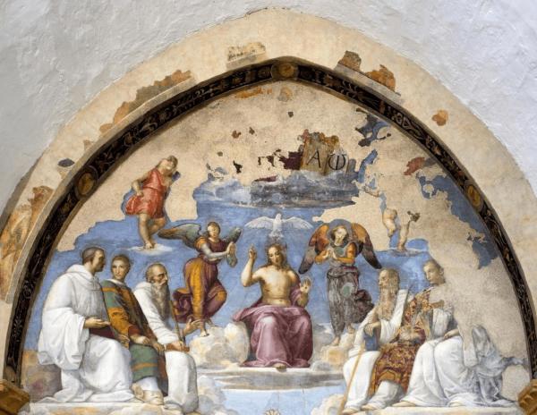 Фреска Рафаэлля в церкви Сан-Северо