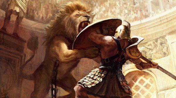 Гладиатор и лев