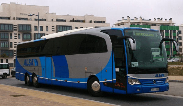 Автобус испанской компании ALSA