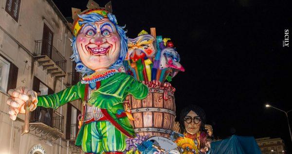 Карнавал в Термини-Имерезе вечером