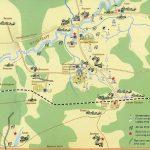 Карта Бородинского поля с памятниками