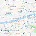 Карта центра Дублина в Ирландии